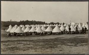 First World War Camp of Bell Tents 25th September1914
