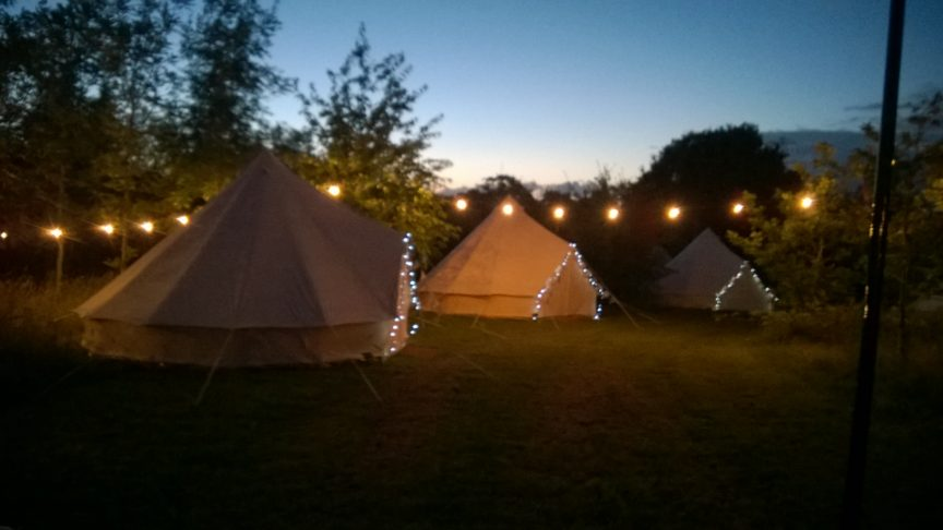 Glamping with Brook Bell Tents at Barn on the Farm