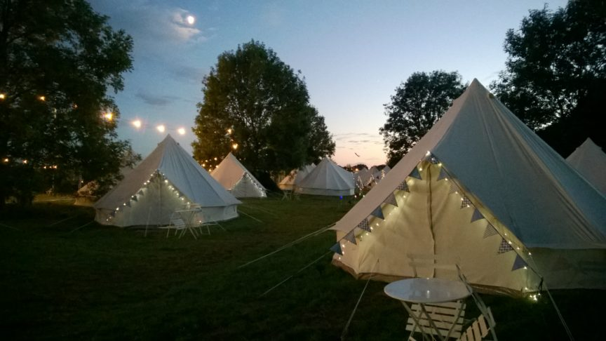Glamping at Cambridge Folk Festival