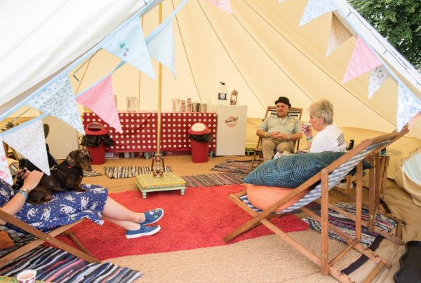 Relaxing with Brook Bell Tents
